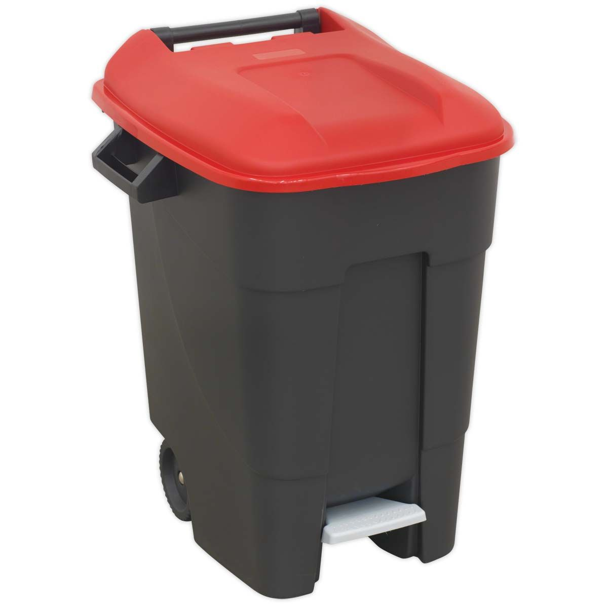 Sealey Refuse/Wheelie Bin with Foot Pedal 100L - Red