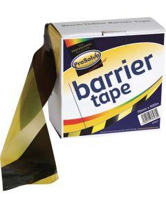 Prosolve Barrier Tape Black/Yellow 75mm x 500m