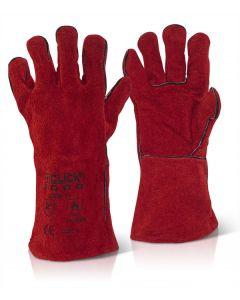 """Click 14"""" Red Welding Gauntlet Gloves Cat 2"""