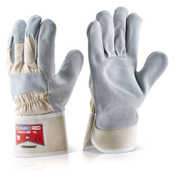 B Flex Canadian High Quality Rigger Glove Red