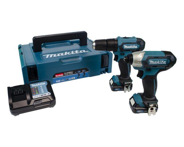 Makita CLX228AJ 12v Cordless Twin Pack Drill & Impact Driver