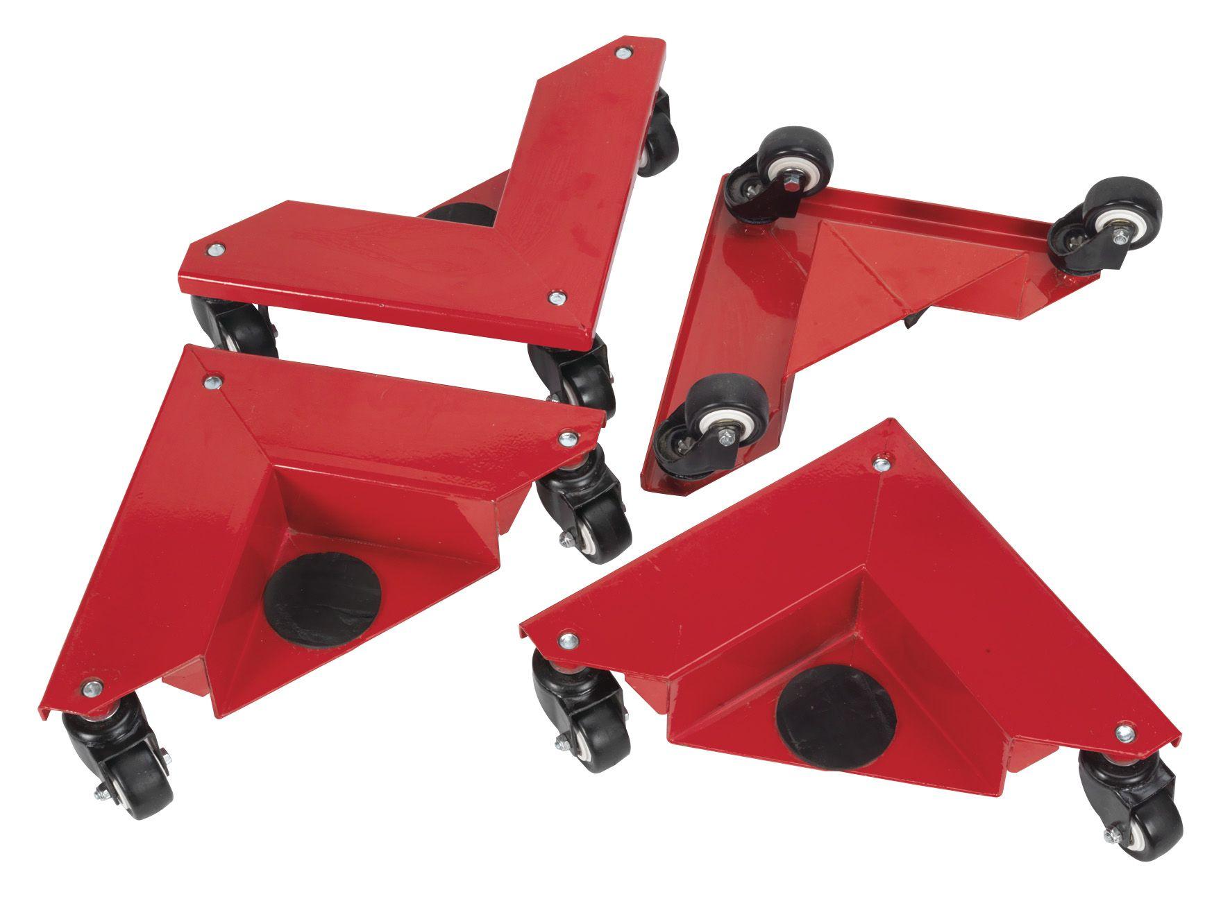 Sealey Corner Transport Dollies Set of 4 150kg Capacity