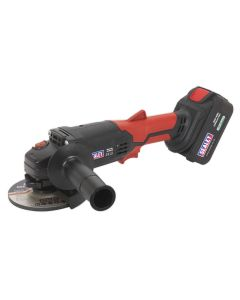 Sealey Cordless Angle Grinder Ø115mm 20V Lithium-ion 1hr Charge
