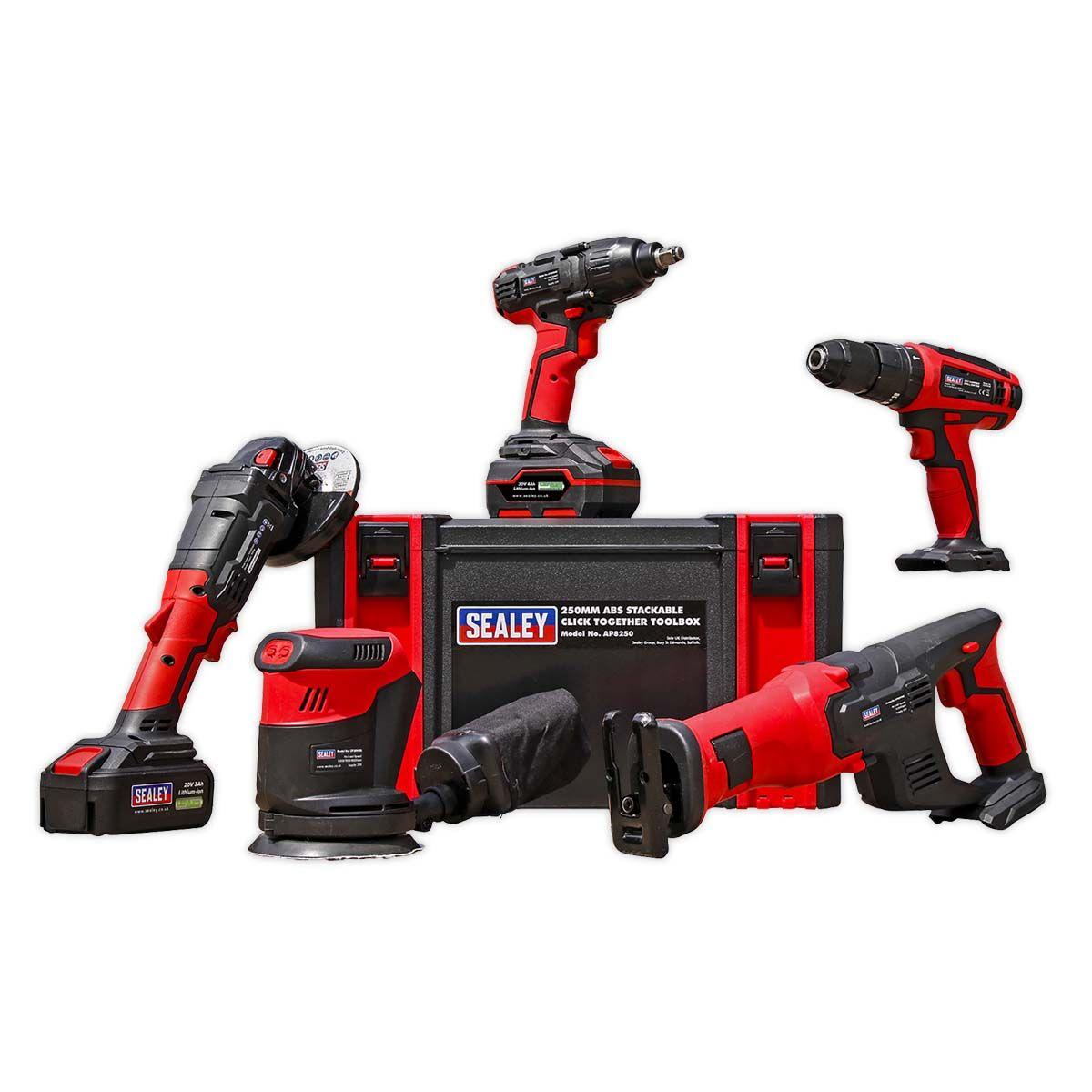 Sealey CP20V Series 5 x 20V Cordless Tool Combo - 2 Batteries
