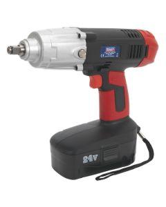 """Sealey Cordless Impact Wrench 24V 2Ah Ni-MH 1/2""""Sq Drive 410lb.ft"""