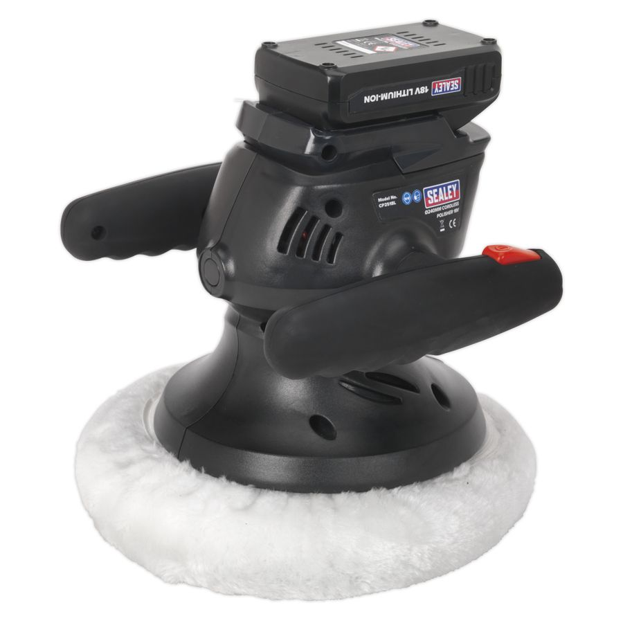 Sealey Cordless Polisher Ø240mm 18V Lithium-ion