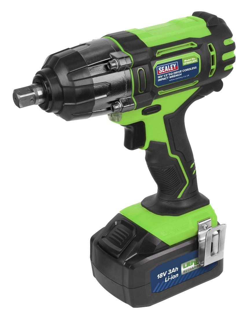 """Sealey CP400LIHV 18v Cordless 1/2"""" Impact Wrench Hi-Vis"""