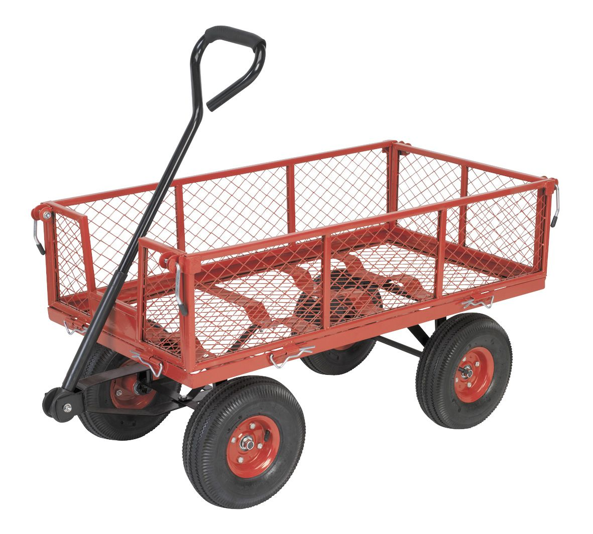 Sealey Platform Truck with Removable Sides Pneumatic Tyres 200kg Capacity