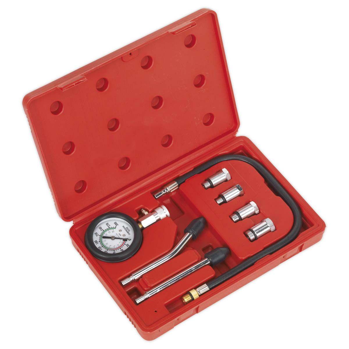 Sealey Petrol Engine Compression Test Kit 8pc