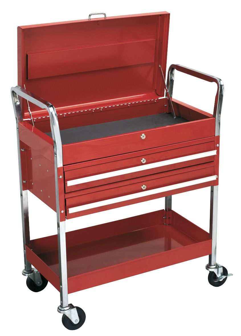 Sealey Trolley 2-Level Heavy-Duty with Lockable Top & 2 Drawers