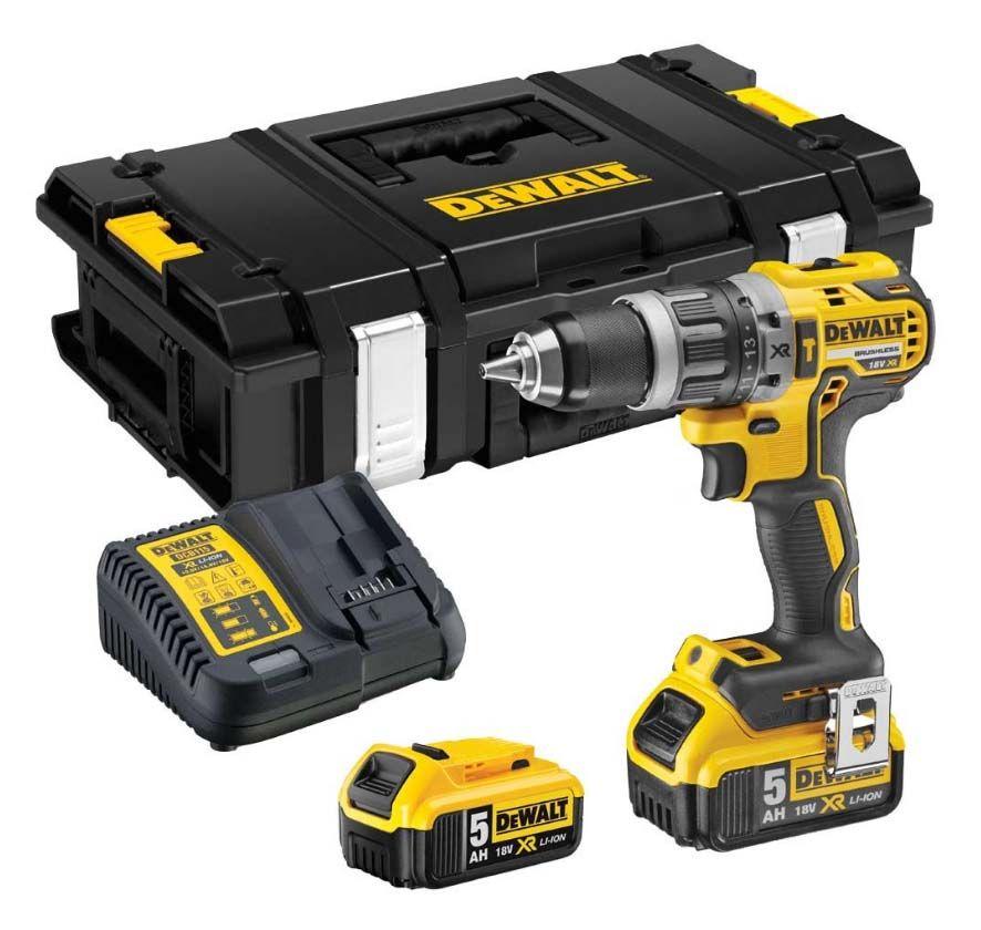 Dewalt DCD796P2 XR Compact Combi Drill Kit - 2x 18v 5.0Ah Batteries