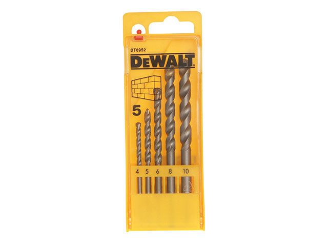 DEWALT Masonry Drill Set of 5 4 0- 10.0mm