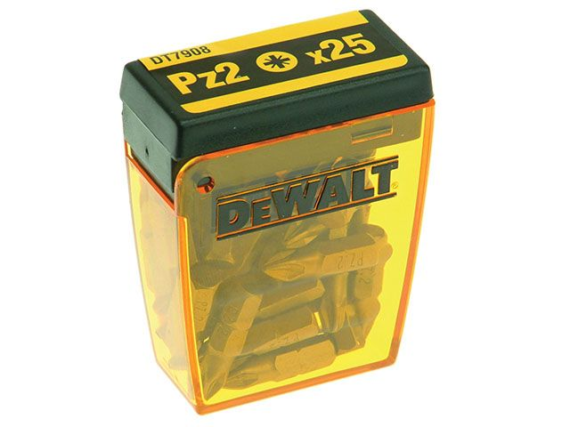DEWALT DT7908 Flip Box of 25 Pozi No.2 25mm Bits