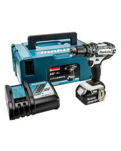 Makita DHP482TJW1 18v LXT Li Ion Cordless Combi Drill 1x 5.0Ah Battery