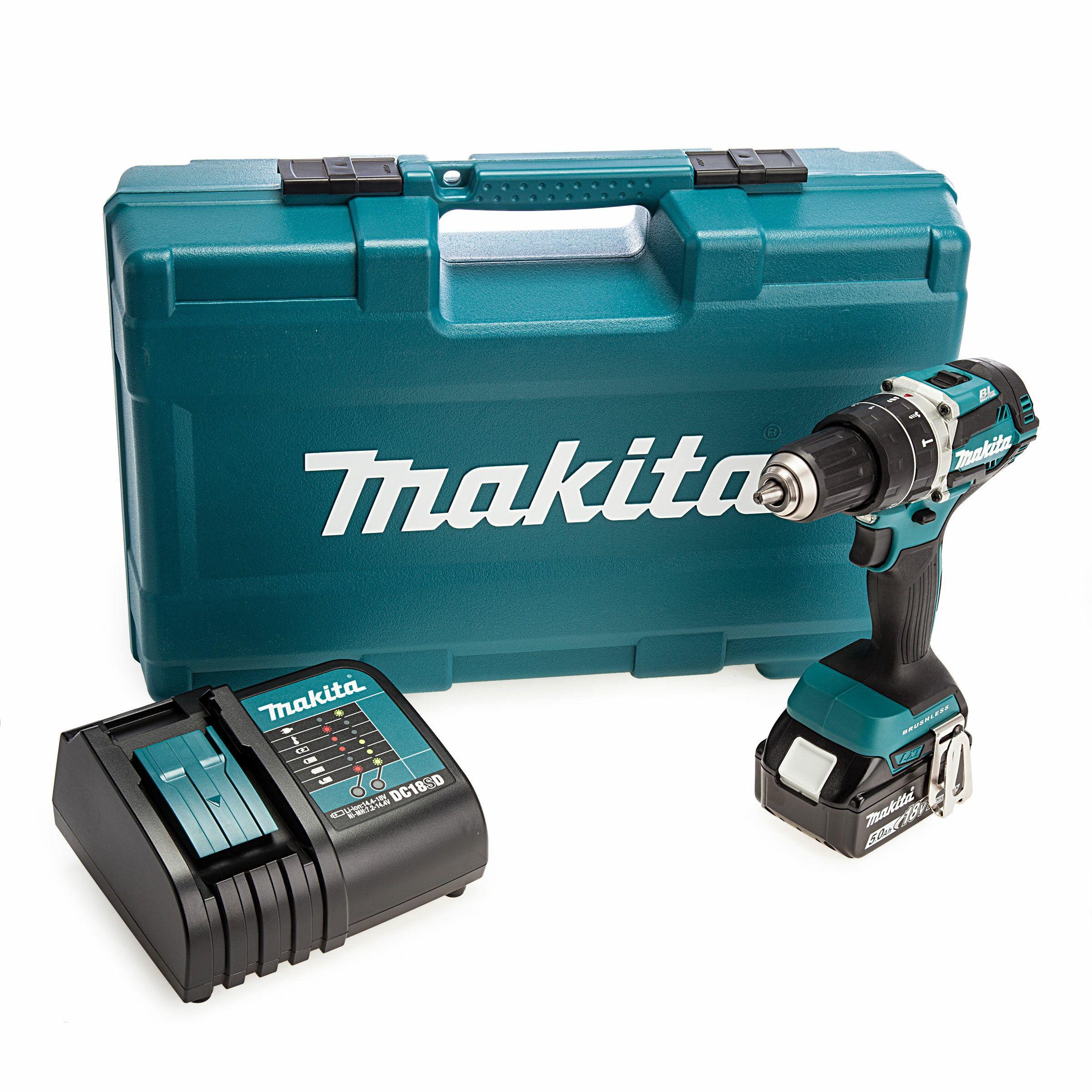 Makita DHP484STX5 18v Combi Drill Kit With 101 Piece Accessory Set