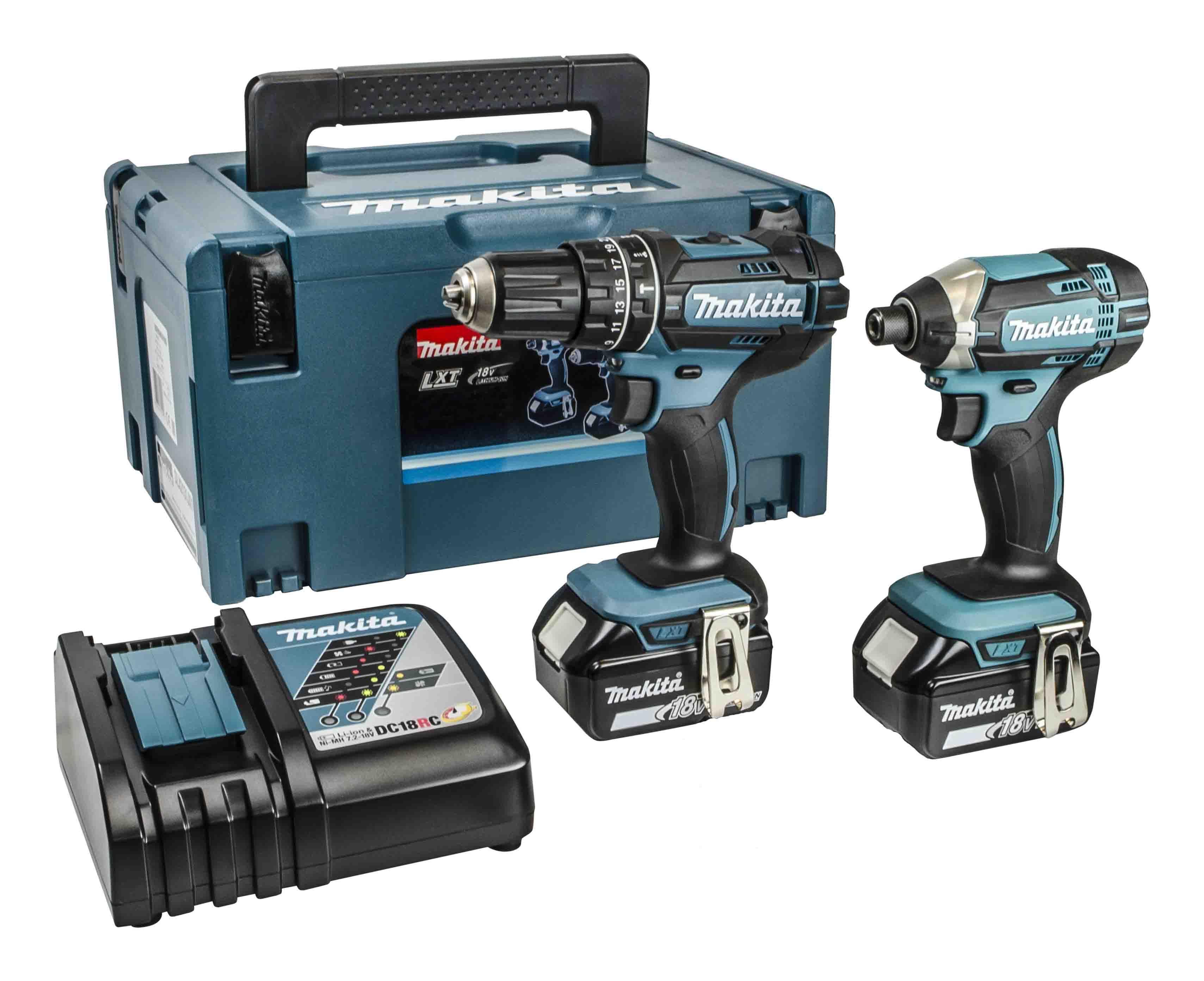Makita DLX2131TJ 18v Twin Pack Combi Drill & Impact Driver 2x 5Ah
