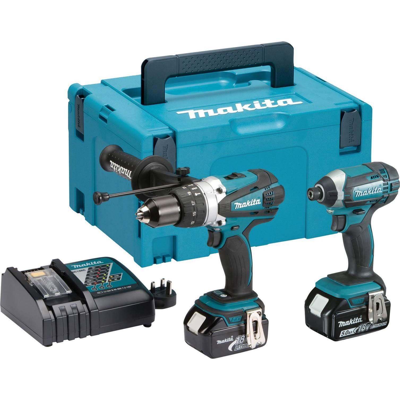 Makita DLX2145TJ 18v 5.0Ah Twin Pack Combi Drill & Driver