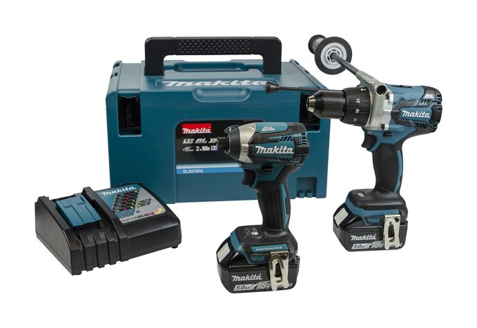 Makita DLX2176TJ 18V 5.0Ah Twin Pack Brushless Combi Drill & Driver