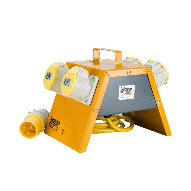 Defender 4 Way Power Splitter Distribution Unit 16A / 32A 110V
