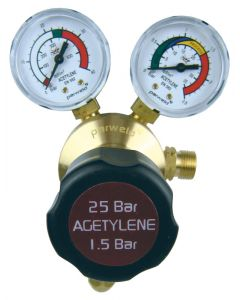 Parweld E700121 Gas Regulator 25 Bar Single Stage Gauge Acetylene
