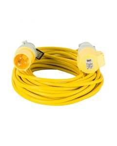 Defender 14m Extension Lead 16A 1.5mm Cable Yellow 110V
