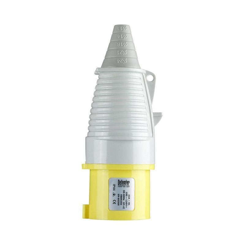 Defender 32A Plug Yellow 110V
