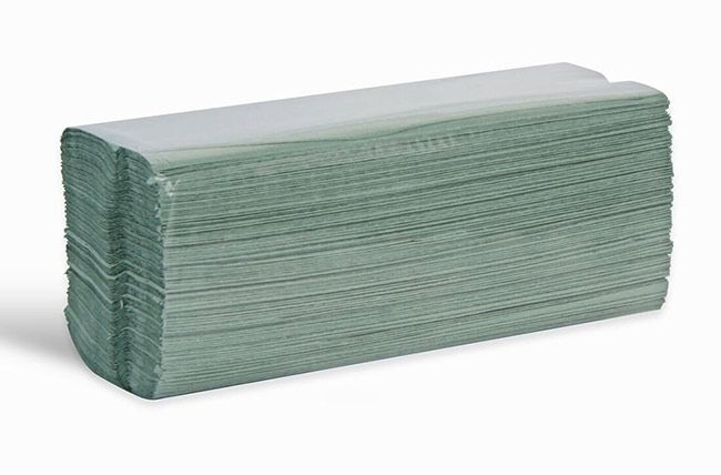 Esfina Centre Fold 1Ply Paper Towels Green Box Of 2640