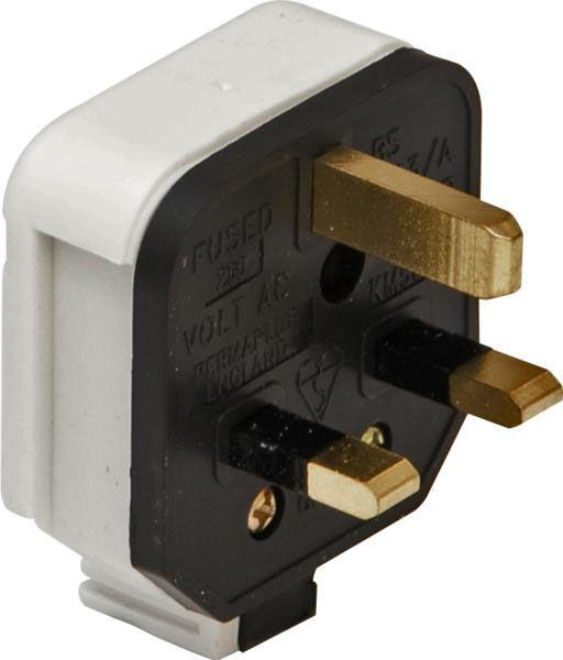 Permaplug Rubber Plugs 3-Pin 13A White