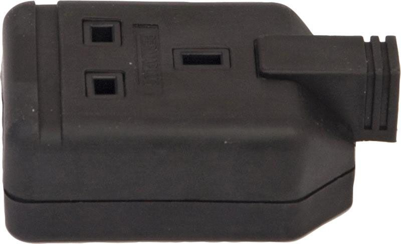 Permaplug Trailing Extension Sockets Single Black