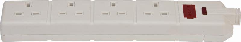Permaplug Trailing Extension Socket 4-Way White