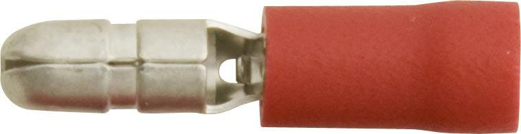 Pk 100 Terminals Red Bullet 4.0mm