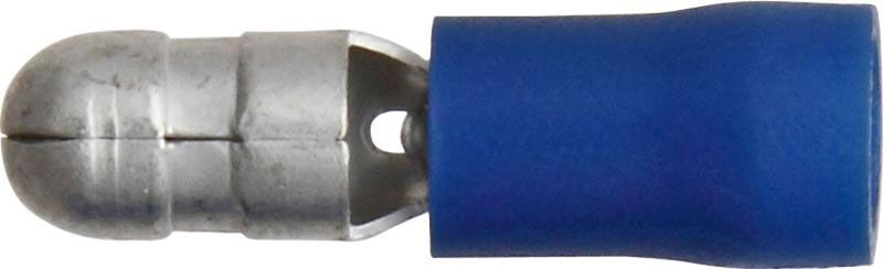 Pk 100 Terminals Blue Bullet 5.0mm