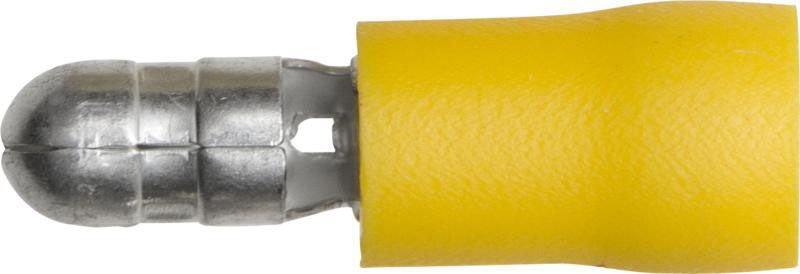 Pk 100 Terminals Yellow Bullet 5.0mm