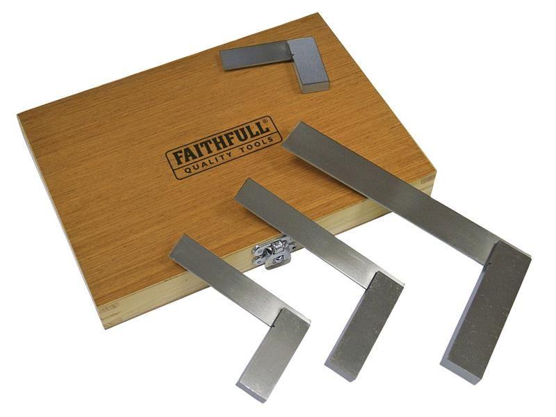 Faithfull Engineers Squares Set 4 Piece (50, 75, 100, 150mm)