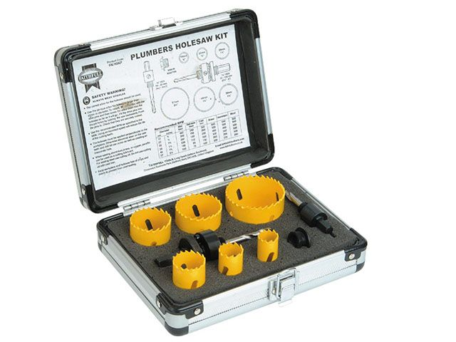 Faithfull Holesaw Kit Set of 9 Plumbers 19-57mm