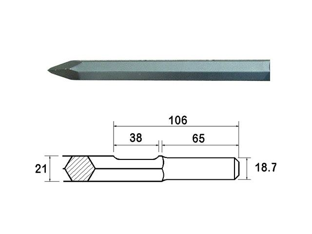 Faithfull Point 450mm Kango Shank (914113)