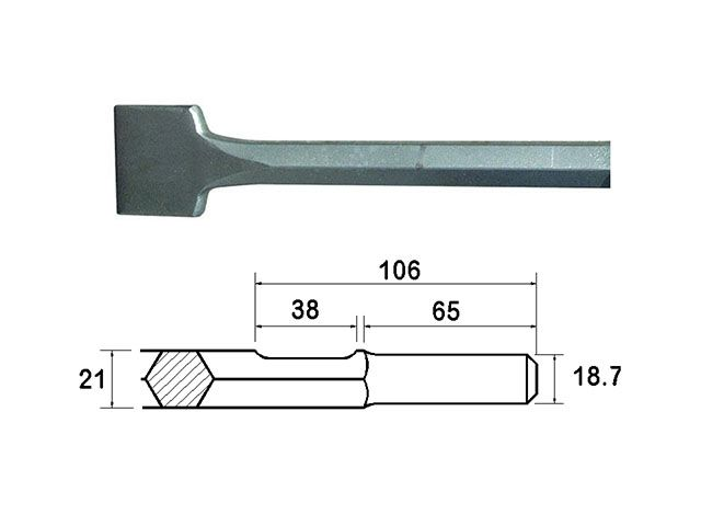 Faithfull Scaling Chisel Straight 300x75mm Kango Shank
