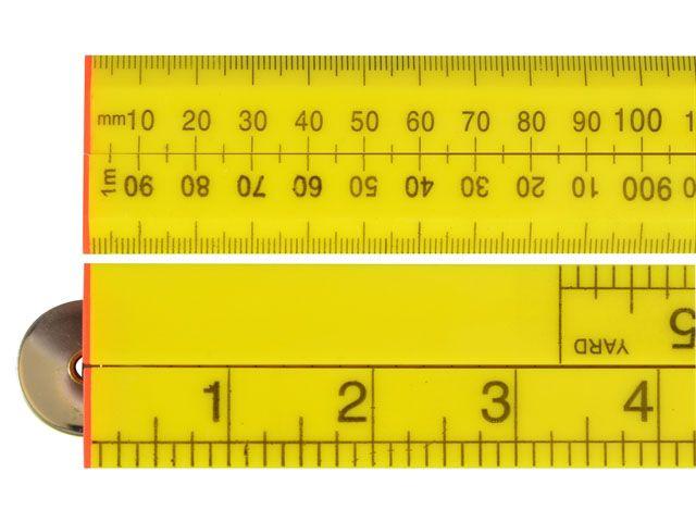 Faithfull Folding Rule Yellow ABS Plastic 1 Metre / 39in