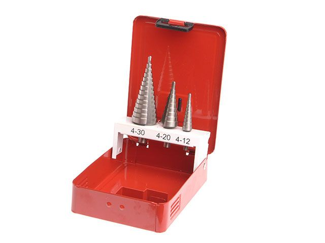 Faithfull HSS Step Drill Bit Set of 3 4mm to 30mm
