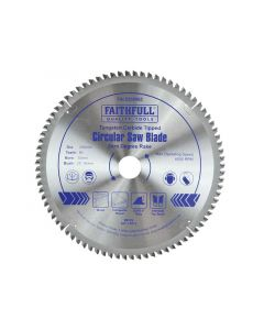 Faithfull Circular Saw Blade 250 x 16/25/30mm x 80T Zero Degree