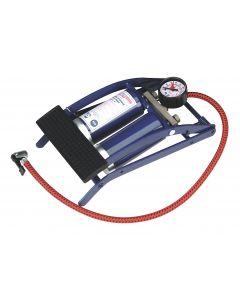Sealey Foot Pump Twin Barrel