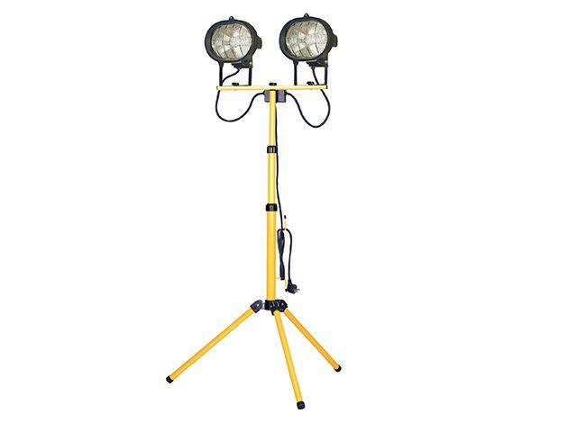 Faithfull Power Plus Sitelight Twin Adjustable Stand 1000W