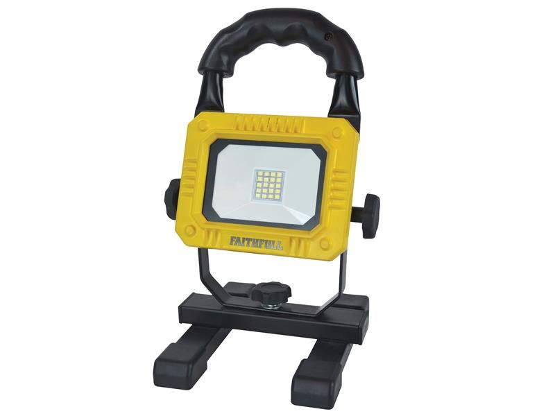 Faithfull Power Plus Rechargeable SMD LED Work Light with Magnetic Base 900 Lume