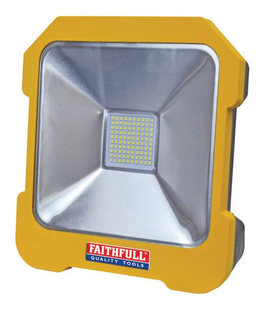 Faithfull 20w LED Task Light With Power Take Off 110v