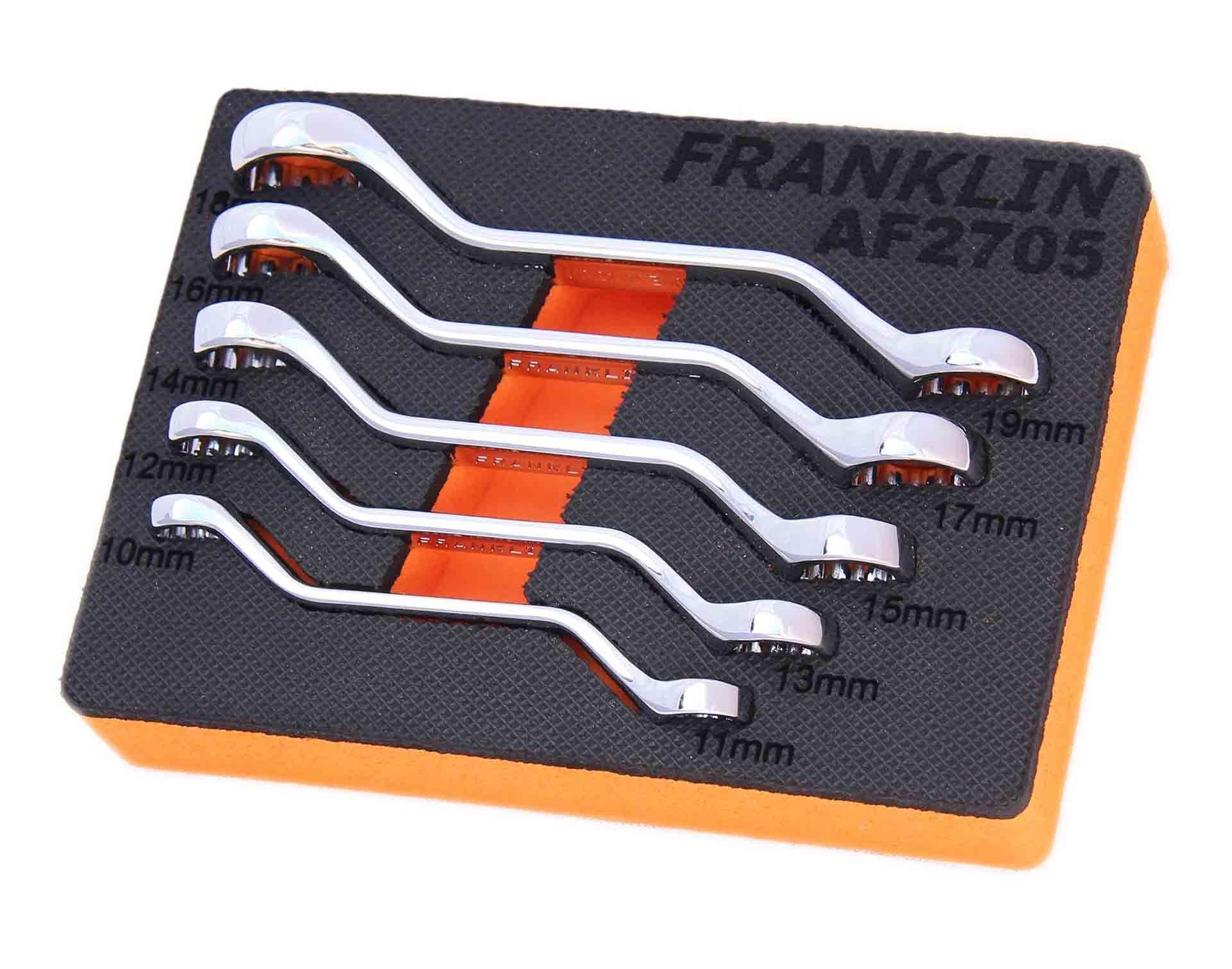 Franklin 5 Piece 12 Point Mini Ring Spanner Set
