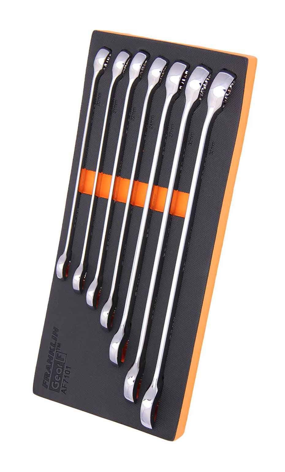 Franklin GearF Grip 4+ 7 Piece 12 Point XL Combination Spanner Set