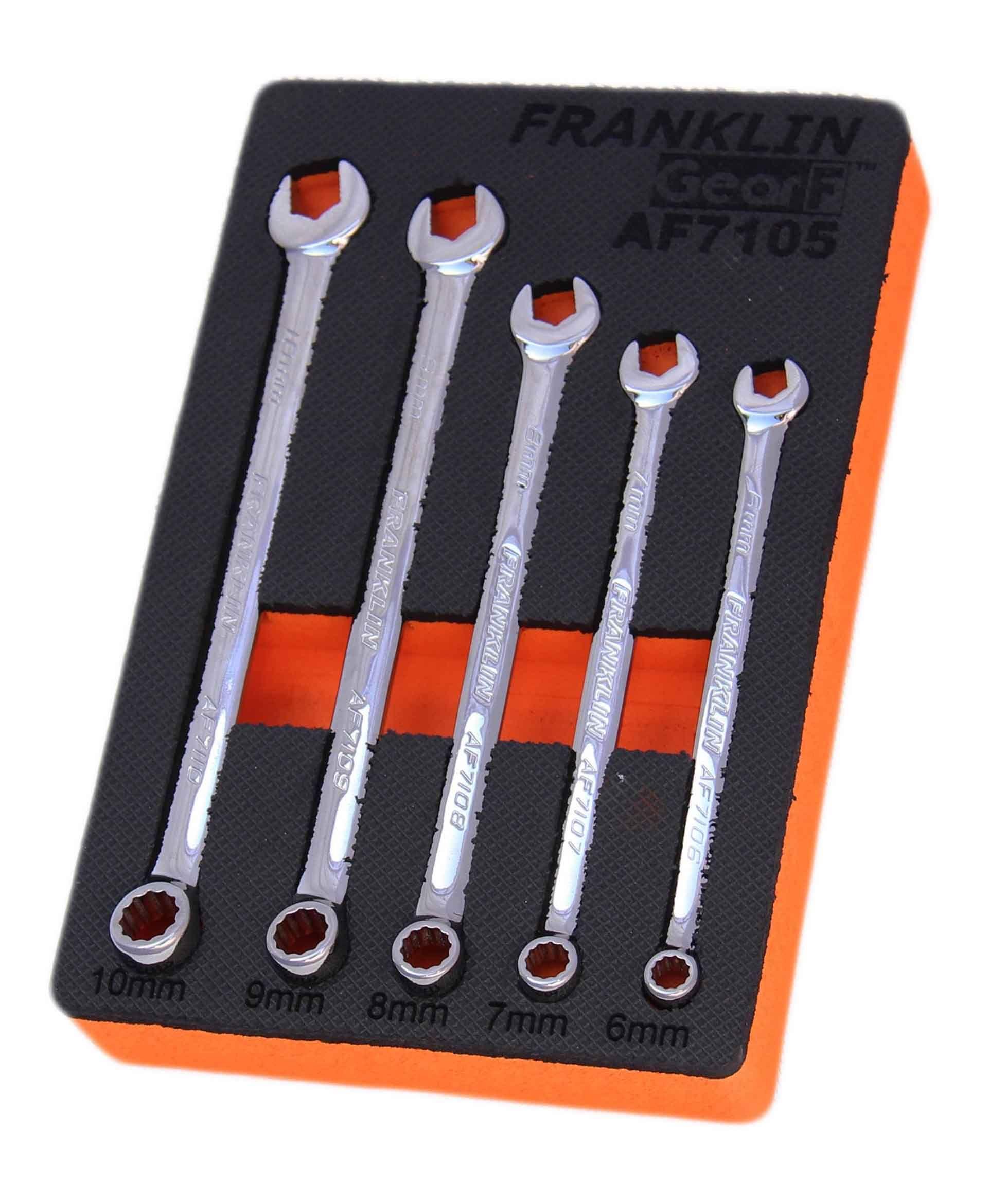 Franklin GearF Grip 4+ 5 Piece 12 Point XL Combination Spanner Set