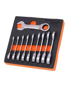 Franklin GearF 10 Piece 12 Point Stubby Ratchet Spanner Set