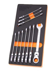 Franklin GearF 10 Piece 12 Point Flexi Ratchet Combination Spanner Set