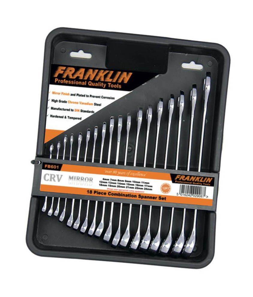 Franklin 18 Piece 12 Point Combination Spanner Set